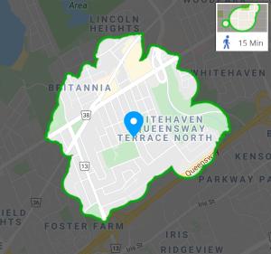 Walking map of QTN